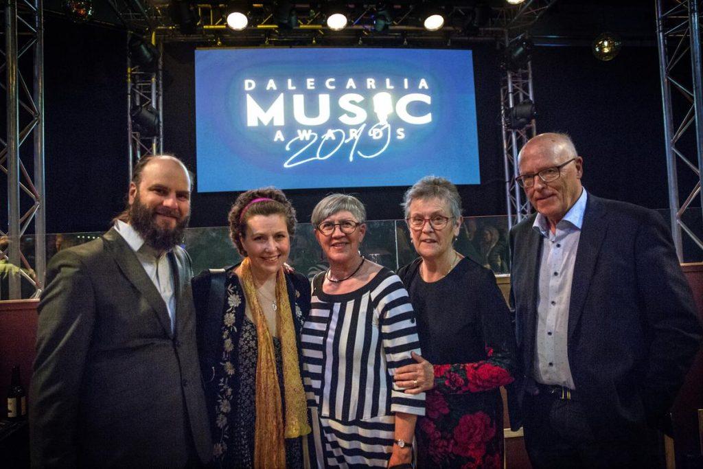 Delar av styrelsen vid utdelningen av Dalecarlia Music Awards 2019 där vi var nominereade.